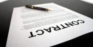 Plaatje contract ondertekenen